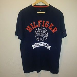 Tommy Hilfiger Navy Blue Graphic Tee Shirt